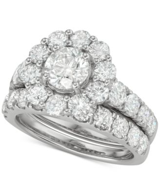 Certified Diamond Bridal Set (4 ct. t.w.) in 18k White, Yellow and Rose Gold