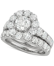 Diamond (4 ct. t.w.) Bridal Set in 18k White Gold