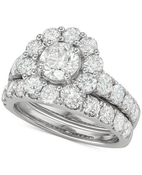 Marchesa Diamond (4 ct. t.w.) Bridal Set in 18k White Gold