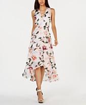 487ad271a93 Calvin Klein Floral-Print High-Low Wrap Maxi Dress