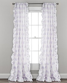 "Fox Print Ruffle 40"" x 84"" Curtain Set"