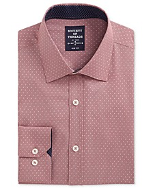 Men's Slim-Fit Performance Stretch Abstract Dress Shirt