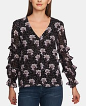 270d4d34f8a29e 1.STATE Bloomsbury-Floral V-Neck Top