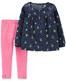 Carter's Toddler Girls 2-Pc. Floral Bouquet Tunic & Leggings Set