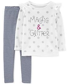 Carter's Girls 2-Pc. Magic & Glitter Top & Leggings Set