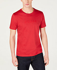GUESS Men's Embroidered Logo T-Shirt