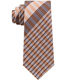 Tommy Hilfiger Men's Exploded Plaid Silk Tie
