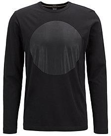 BOSS Men's Graphic Cotton Long-Sleeve Shirt