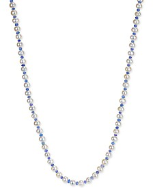 "Cultured Freshwater Pearl (6-6-1/2mm) and Tanzanite (3-4mm) 64"" Necklace"