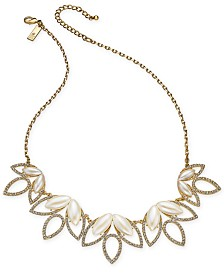"I.N.C. Crystal & Stone Statement Necklace, 18"" + 3"" extender, Created for Macy's"