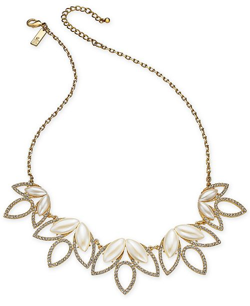 """INC International Concepts I.N.C. Crystal & Stone Statement Necklace, 18"""" + 3"""" extender, Created for Macy's"""