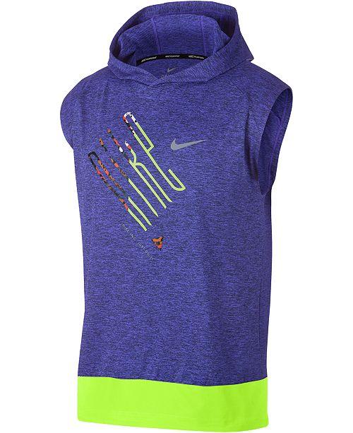 be47753b8 Nike Men's Element Sleeveless Running Hoodie & Reviews - T-Shirts ...