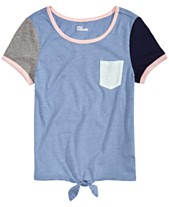 c849dce2fa7 Epic Threads Big Girls Colorblocked Tie-Front T-Shirt