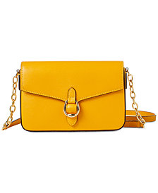 Lauren Ralph Lauren Bennington Saffiano Leather Flap Crossbody