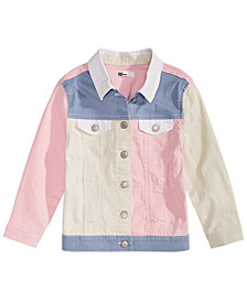 Epic Threads Toddler Girls Loved Colorblocked Cotton Denim Jacket, Created for Macy's