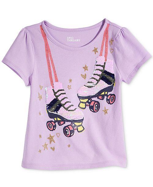 91d85cf1 Epic Threads Toddler & Little Girls Flip Sequins Roller Skates T-Shirt,  Created for ...
