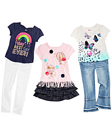 Epic Threads Little Girl Graphic Tops, Jeans, Leggings & Skirt Separates, Created for Macy's