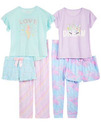 Big Girls Printed Pajama Shorts, Created for Macy's