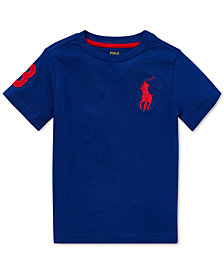 Polo Ralph Lauren Toddler Boys Big Pony Cotton T-Shirt
