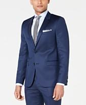 15f2de83e5d2 HUGO Men s Slim-Fit Navy Broken Stripe Suit Jacket