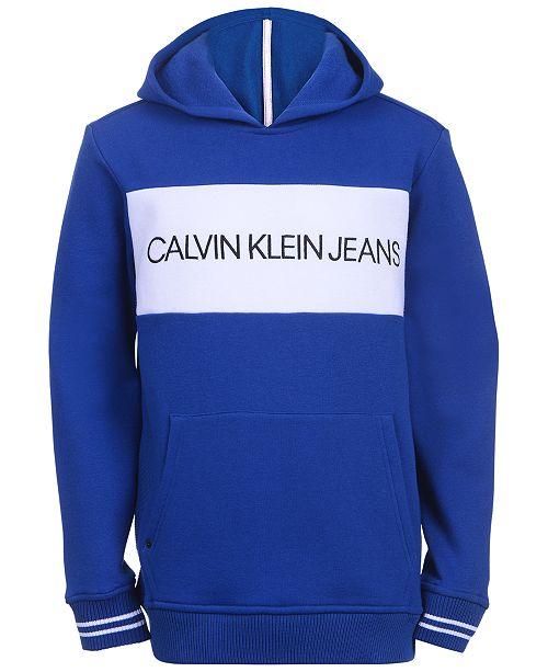 Calvin Klein Big Boys Colorblocked Logo Hoodie