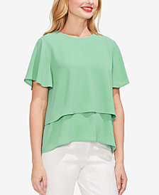 Vince Camuto Tiered-Hem Top