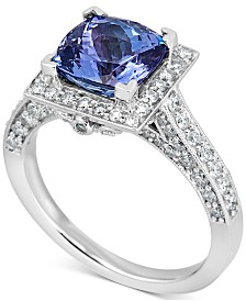 Tanzanite (2 ct. t.w.) and Diamond (7/8 ct. t.w.) Ring in 14k White Gold