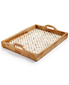 Home Essentials Congo Sunset Large Tile & Wood Tray