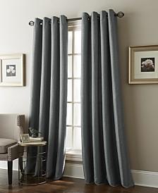 "Aruba Grommet Single Curtain Panel, Coffee, 54 x 63"""