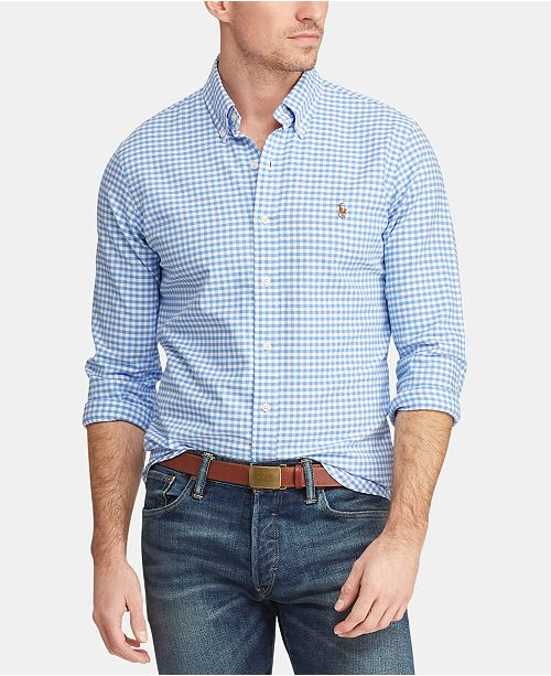 f129bb0ab ... Oxford Shirt  Polo Ralph Lauren Men s Big   Tall Classic Fit Patterned  Oxford ...