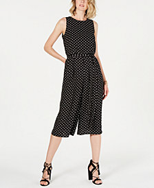 Vince Camuto Petite Printed Cropped Jumpsuit