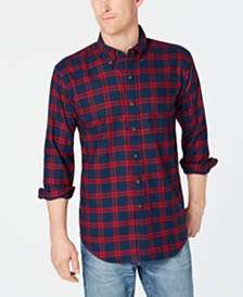 MagnaClick Men's Flannel Shirt with Magnetic Buttons