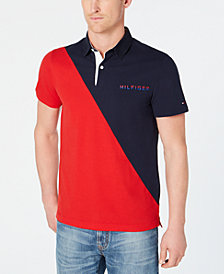 Tommy Hilfiger Men's Custom Fit Diagonal Colorblocked Polo