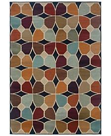 "CLOSEOUT! Oriental Weavers  Adrienne 3836E Multi/Stone 6'7"" x 9'6"" Area Rug"