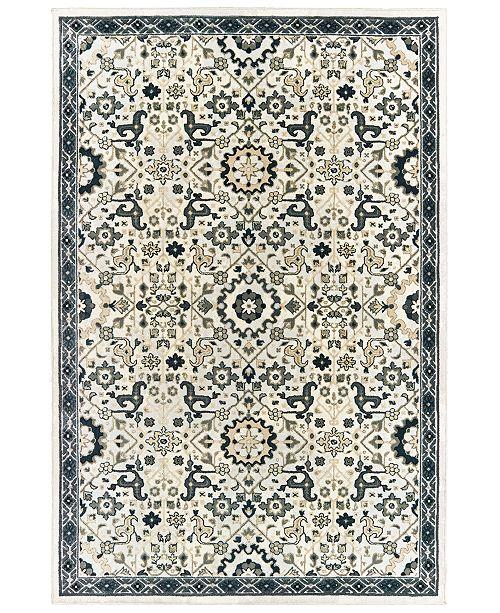 """Oriental Weavers Bowen 073J2 Ivory/Navy 7'10"""" x 10'10"""" Area Rug"""