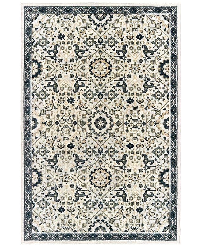 """Oriental Weavers Bowen 073J2 Ivory/Navy 3'10"""" x 5'5"""" Area Rug"""