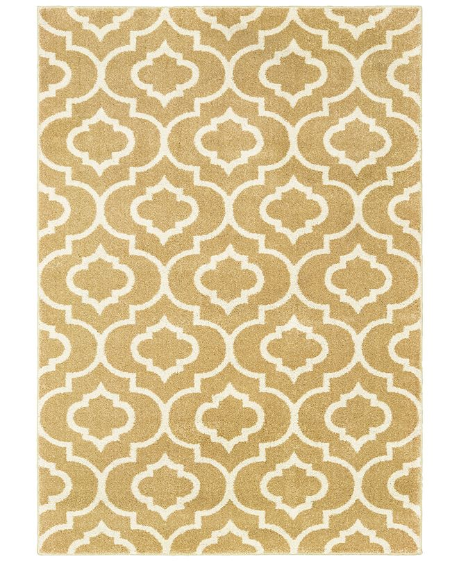 "Oriental Weavers Carson 9672E Gold/Ivory 5'3"" x 7'3"" Area Rug"