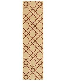 "CLOSEOUT! Oriental Weavers  Casablanca 5178E Beige/Rust 1'10"" x 7'6"" Runner Area Rug"