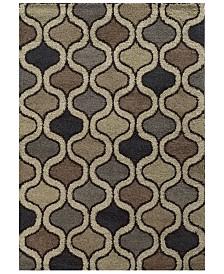 "Oriental Weavers Covington Shag 532E6 Beige/Multi 7'10"" x 10'10"" Area Rug"