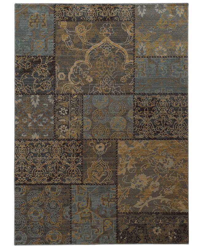 "Oriental Weavers Heritage 1336H Charcoal/Blue 5'3"" x 7'6"" Area Rug"