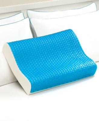 Cool Comfort Hydraluxe Standard Pillow, Gel & Custom Contour Open Cell Memory Foam