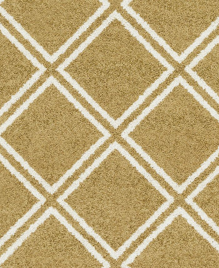 """Abbie & Allie Rugs - Seville SEV-2334 Tan 18"""" Square Swatch"""