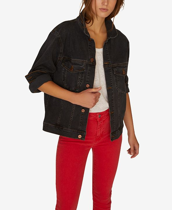Sanctuary Axel Oversized Denim Trucker Jacket