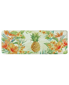 "Tropical Pineapple Memory Foam Runner 20""x55"" Accent Rug"