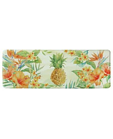 "Bacova Tropical Pineapple Memory Foam Runner 20""x55"" Accent Rug"