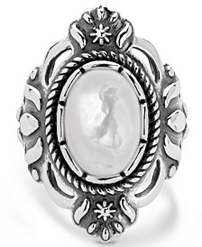 Classics White Mother of Pearl Ring in Sterling Silver