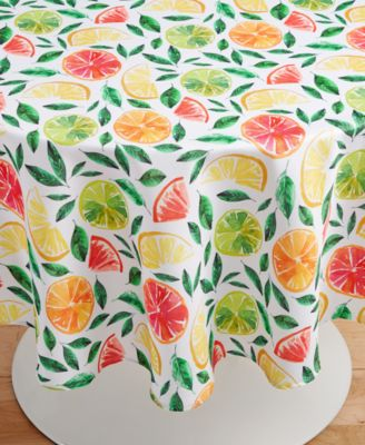 """Citrus Bliss 70"""" Round Tablecloth"""