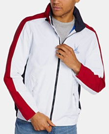 Nautica Men's Blue Sail Colorblocked Windbreaker, Created for Macy's