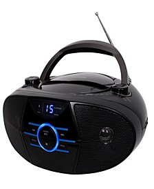 Portable Stereo Compact Disc Player with AM-FM Stereo Radio and Bluetooth