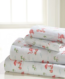 Flamingo Queen Sheet Set